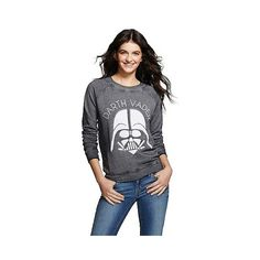 Star Wars Darth Vader Graphic Sweatshirt Black  - Star Wars ($16) ❤ liked on Polyvore featuring tops, hoodies, sweatshirts, black, sweat tops, sweatshirt hoodies, black sweatshirt, sweat shirts and graphic sweatshirts