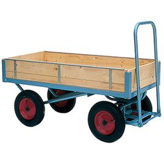 This strong truck is constructed from timber with strong angle steel framework. Mounted on a choice of either pneumatic or rubber tyres. The slot in sides ensure that your goods don't fall off the truck. Diy Home Crafts, Garden Crafts, Metal Bins, Pull Wagon, Four Wheelers, Rubber Tires, Wheelbarrow, Outdoor Projects, Turntable