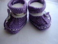 Вяжем сиреневые туфельки