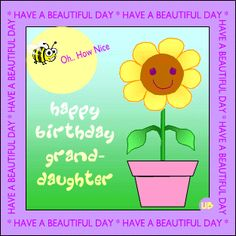 Discover and share Happy Birthday Granddaughter Quotes. Explore our collection of motivational and famous quotes by authors you know and love. Birthday Girl Quotes, Birthday Wishes Quotes, Birthday Messages, Funny Birthday Cards, Birthday Greetings, Girl Birthday, Wish Quotes, Family Birthdays, Good Notes