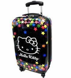 "Amazon.com: Hello Kitty Falling Stars 20"" Travel Carry on Luggage: Clothing"