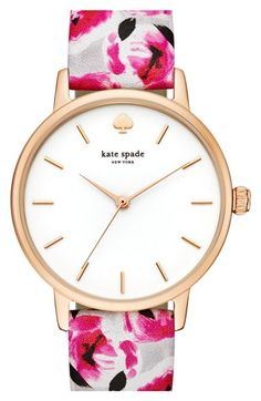 kate spade new york 'metro' 34mm metro strap watch available at #Nordstrom