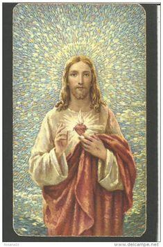 Heart Of Jesus, Jesus Pictures, Jesus Loves You, Prayer Cards, Sacred Heart, Jesus Christ, Mona Lisa, Prayers, Spirituality
