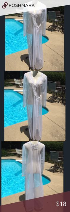 LOVELY Victoria Secrets white shear lingerie cover LOVELY Victoria Secrets shear lingerie cover - elegant and beautiful. Great condition. Victoria's Secret Intimates & Sleepwear Robes