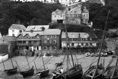 Am Kai von Clovelly:  Das Fischerdorf an der Küste der Grafschaft Devon im...