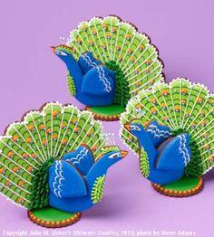 3D peacock cookies