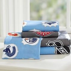 Lovely NHL® Bedding, Ice Hockey Bedding U0026 Hockey Bed Sheets | PBteen | J.R.u0027s Big  Boy Bed | Pinterest | Ice Hockey, Hockey And Room