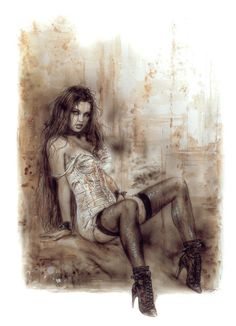 Lust - Art by Luis Royo #Erotic, #Sexy, #Hot