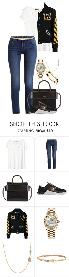 """Untitled #2467"" by moxfordf on Polyvore featuring H&M, Calvin Klein, Givenchy, NIKE, Off-White, Rolex, Jennifer Meyer Jewelry, Lilly Pulitzer and Cartier"