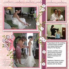 Wedding Album For Parents Wedding Album Box - Wedding Albums - Mariage Wedding Album Layout, Wedding Scrapbook Pages, Bridal Shower Scrapbook, Love Scrapbook, Scrapbook Sketches, Scrapbook Page Layouts, Scrapbook Albums, Picture Scrapbook, Wedding Book