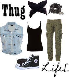 """""""Thug Life"""" by juliaforever987 ❤ liked on Polyvore"""