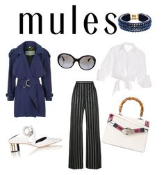Glamorous OL #muleschallenge by wenbo-zhang on Polyvore featuring polyvore, fashion, style, Johanna Ortiz, Burberry, Balenciaga, Proenza Schouler, Gucci, Only Child, Chanel and clothing
