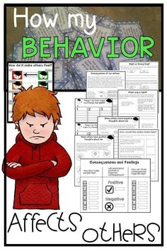 408 Task Cards How my behavior affects others Social Skills Autism is part of Social skills autism Description Often, students with Autism and other social skills deficits struggle to understand - Social Skills Autism, Social Skills Lessons, Social Emotional Learning, Life Skills, Coping Skills, Emotional Support Classroom, Behaviour Management, Classroom Management, Counseling Activities