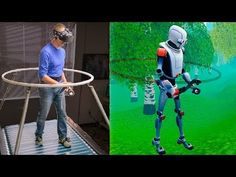 The Infinadeck Omnidirectional Treadmill - Smarter Every Day 192 (VR Series) - YouTube