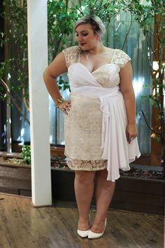 Vestido de festa plus size para formaturas, casamentos e Ano Novo - Entre Topetes e Vinis