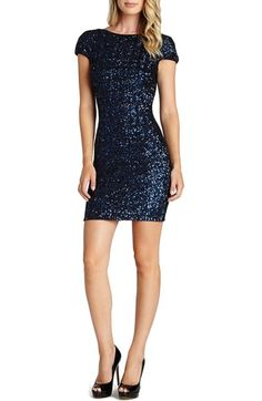 Main Image - Dress the Population Sequin Body-Con Dress