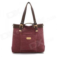 Stylish Versatile Canvas Single Shoulder Bag - Pink