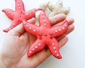 Items similar to PDF pattern - Starfish mobile - Felt ornaments, easy sewing pattern, DIY, hand sewing pattern, summer decoration on Etsy