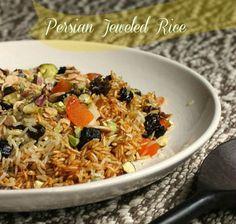 Persian Jeweled Rice #SundaySupper: Vintage Kitchen Notes