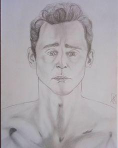 "1 Likes, 1 Comments - Adélka Farky Farkašová (@adelkafarkasova) on Instagram: ""Tom Hiddleston ❤ #pencildrawing"""