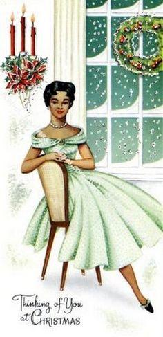 Old Christmas Post Сards — Vintage  (339x700)