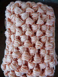 Ravelry: Yummy Puff Stitch Scarf pattern by Kim