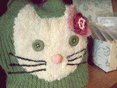 felted hello kitty tea cozy