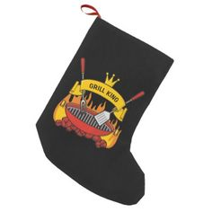 Grill King Small Christmas Stocking - diy cyo customize create your own personalize