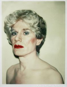 Andy Warhol, Self-Portrait in Drag, 1981. Polaroid Polacolor Type 108 print. Image: 3.5 x 2.25 in. Sheet: 4.25 x 3.4 in.