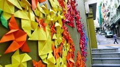 Mademoiselle Maurice Hong Kong Street #origami installation