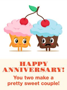 Send Free To a Pretty Sweet Couple - Funny Anniversary Card to Loved Ones on Birthday & Greeting Cards by Davia. It's free, and you also can use your own customized birthday calendar and birthday reminders. Anniversary Quotes For Couple, Happy Wedding Anniversary Wishes, Anniversary Greetings, Funny Anniversary Cards, Marriage Anniversary, Anniversary Ideas, Birthday Greeting Cards, Birthday Greetings, Card Birthday