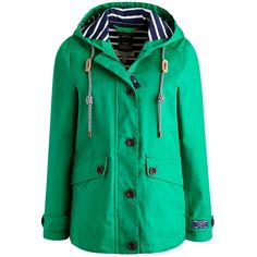 Joules Right as Rain Coast Hood Jacket , Bright Green ($88) ❤ liked on Polyvore featuring outerwear, jackets, bright green, long sleeve jacket, joules jacket, green jacket, waterproof jacket und cotton hooded jacket
