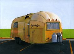 """Airstream Gold"" by Leah Giberson on etsy"