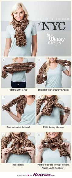 How To Tie A Scarf ~~ The Nyc.