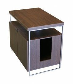ModernCat Designs Large Litter Box Hider - Brown - Felign -Sleek design and high quality materials keep the litter pan out of sign.
