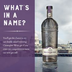 What's in a name? Our distillery is in Bride Lane, near St Bride's Church, designed by Sir Christopher Wren in 1672, three years before he started work on nearby St Paul's Cathedral. You'll get the chance to try our double award-winning Christopher Wren gin if you enter our competition to name our new gin still. We're offering you the chance to WIN a gin experience for four people PLUS four bottles of our gin; See our T&Cs for our #stillnoname #competition –…