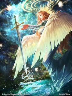 Artist: Shuichi Wada aka Leo - Title: Unknown - Card: Swordmaster Laraiya…