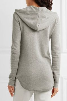 ATM Anthony Thomas Melillo | French cotton-blend terry hooded top | NET-A-PORTER.COM