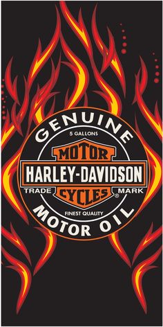12 Harley Davidson Genuine Oil & Fire Towel 30 x 60 Inches Cotton Huge Fiber Reactive 30 x 60 Beach Towel with printed Harley Davidson design. Harley Davidson Oil, Harley Davidson Posters, Harley Davidson Merchandise, Harley Davidson Wallpaper, Harley Davidson Motorcycles, Triumph Motorcycles, Custom Motorcycles, Bradley Beach, Motorcycle Wallpaper