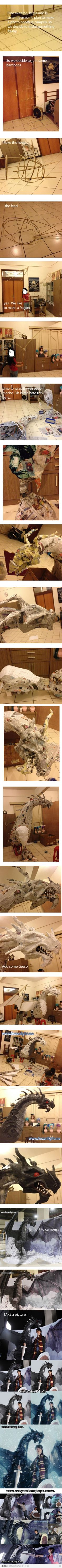 Shows that you can make amazing things with paper mache!