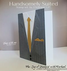 Masculine Birthday Cards, Birthday Cards For Men, Masculine Cards, Male Birthday, 21 Cards, Suit Card, Stampin Up Catalog, Fathers Day Crafts, Stamping Up Cards
