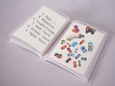Easy to make I Spy Books. This would be great to take along on an airplane trip.