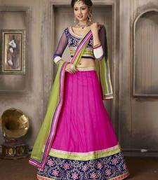 Buy Divine Magenta Embroidered Lehenga Choli lehenga-choli online