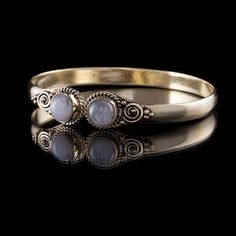 Brass Arm Cuff Bracelet With Moon Stone, brass bracelet , tribal bracelet , tribalik cuffs, tribal jewelry, moonstone jewellery (Code 6) by TRIBALIK on Etsy