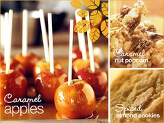 check out some fall-friendly treats & learn how to make homemade caramel apples!
