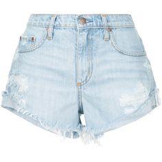 Nobody Denim Boho Short Fray Wink ($170) ❤ liked on Polyvore featuring shorts, blue, boho shorts, short shorts, bohemian shorts, frayed shorts and relaxed fit shorts