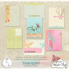 Free Spirit journal cards freebie from HGD by Laurie Ann #ProjectLife