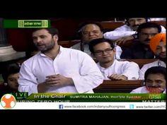 Congress Vice President Rahul Gandhi's statement in Loksabha on farmer's condition