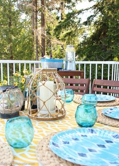 Outdoor Dining Area and Cheery Lakefront Outdoor Tablescape at the happy housie-7