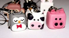 Cute Phone Charms: Animal Square Block Charms